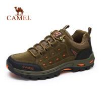 camel骆驼户外 新款春秋 户外运动系带登山鞋男士徒步鞋