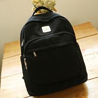 帆布双肩包日韩初中学生书包学院风高中生旅行背包纯色女包   AQ-LT8173