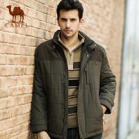 camel骆驼 冬季新款男款棉衣 短款立领拉链挡风保暖风衣 3F15325