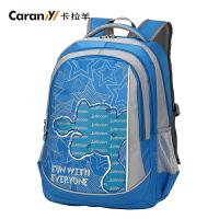卡拉羊书包学生男女韩版小学生书包休闲背包JX2582