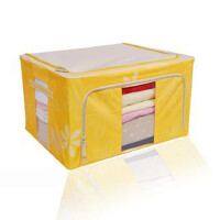 快乐鱼 88L 牛津布百纳箱 有盖收纳盒 整理箱 超大号收纳箱