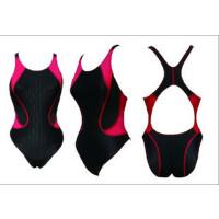 送乳贴  新款女式专业泳衣鲨鱼皮坑条面料 连体三角泳衣NSA2104