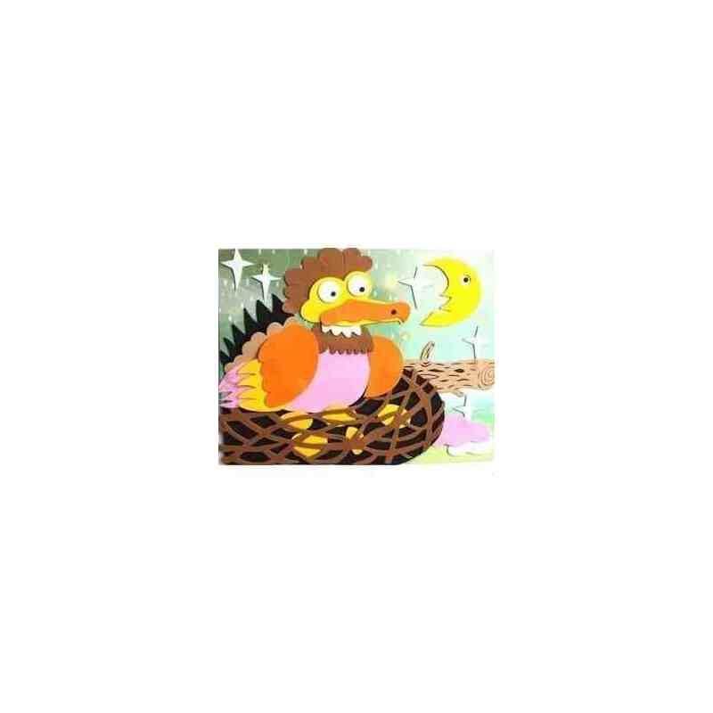 儿童益智玩具 立体拼图 手工拼图 海绵纸eva拼图玩具 下蛋公鸡