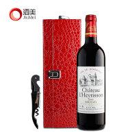 酒美网 法国波尔多原瓶进口红酒 雷里松堡 干红葡萄酒 礼盒装