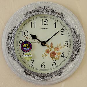 乐唯仕荡漾欧式树脂静音卧室客厅钟表挂钟LS-B8073