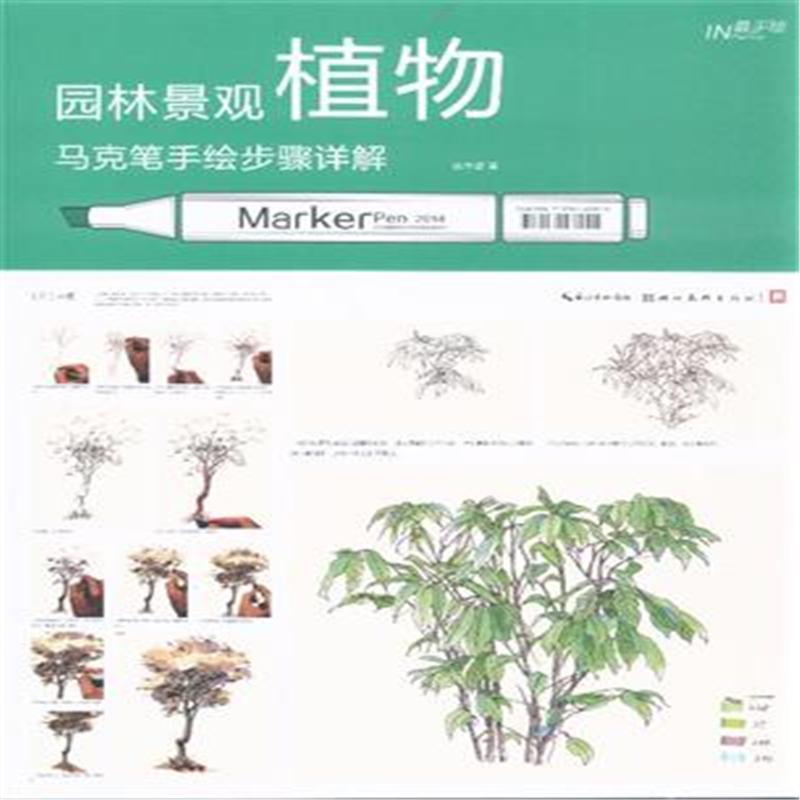 《园林景观植物马克笔手绘步聚详解》