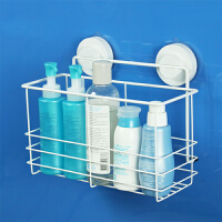 韩国dehub吸盘不锈钢 250高瓶架 置物架 不锈钢卫生间架子浴室沐浴露收纳架  白色
