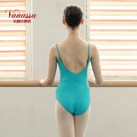 瓦娜沙芭蕾舞练功服连体服成人短袖舞蹈服体操服形体服儿童简约时尚健身服BL-02