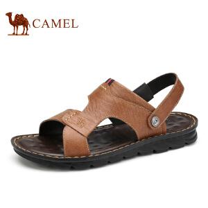 camel骆驼男鞋 夏季新款 头层磨砂皮清凉舒适日常休闲凉鞋男