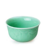 陶瓷故事 陶瓷餐具青瓷 牡丹碗1个 宋代名窑龙泉窑餐具梅子青均码 不含重金属