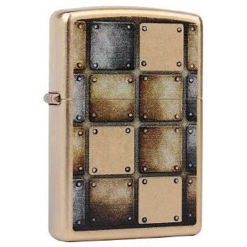 芝宝(zippo)打火机 仿古铜/彩印 28539 金方格 金属方块