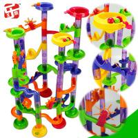 【领券立减50元】尤乐趣热销大号滚珠轨道积木105片宝宝管道建构迷宫儿童益智玩具