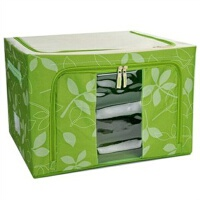 66L优质牛津布百纳箱 收纳箱 衣物整理箱 收纳盒可上面前面开盖 四色可选