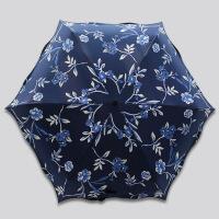 包邮 五折雨伞超轻迷你折叠创意黑胶遮阳伞防晒女士太阳伞