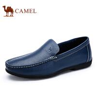camel骆驼男鞋 耐磨简约套脚懒人鞋  新款休闲皮鞋