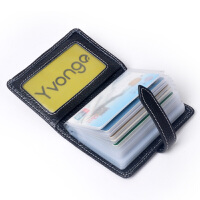 Yvonge韵歌头层牛皮H扣卡包名片包真皮女款卡套*银行卡包