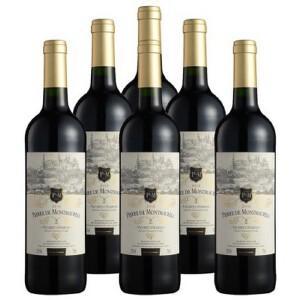 酒仙网红酒法国莫蕾尔干红葡萄酒750ml(6瓶套装)酒仙进口红酒