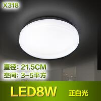 东联LED吸顶灯具卧室灯现代简约阳台灯过道灯时尚厨房灯饰x318