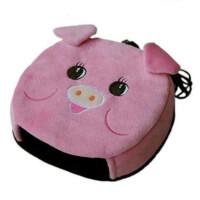 春笑 USB暖手鼠标垫 鼠标垫 粉猪