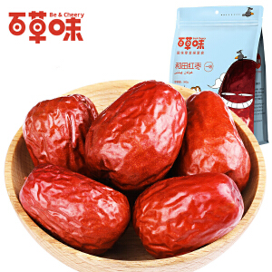 【百草味】五星红枣新疆和田枣360g一级