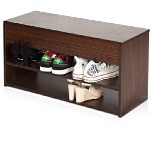 [当当自营]慧乐家 泊雅特翻盖换鞋凳11046 胡桃木色 可翻盖 优品优质