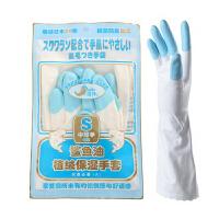 日本进口 鲨鱼油手套 多用手套 植绒保暖 保湿 蓝色指尖 S
