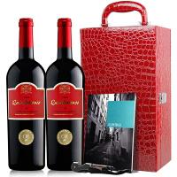酒美网 法国 高分名庄 神之水滴福通2008干红葡萄酒双支礼盒装