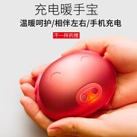 新款萌猪师兄暖手宝USB充电宝猪头暖宝宝电热饼移动电源冬季礼物
