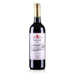 酒仙网红酒法国萨拉斯干红葡萄酒750ml