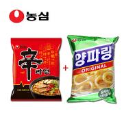 韩国进口食品 农心辛拉面经典香菇+农心洋葱圈84g袋