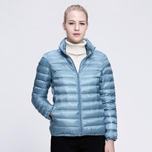 坦博尔2016冬季新羽绒服女轻薄修身短款时尚立领韩版羽绒衣TD3252