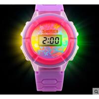 男表潮流时尚女表个性三色彩灯电子表男女学生儿童手表腕表