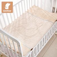 威尔贝鲁 婴儿被子纯棉新生儿薄夏凉被宝宝被子 婴儿床被褥床品