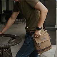 新款时尚旅游包帆布包男士休闲单肩斜挎包证件包旅行包 a025