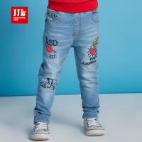 jjlkids季季乐童装女童裤子春秋季童裤小童时尚牛仔裤长裤牛仔蓝GQK63063