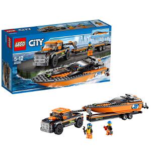 [当当自营]LEGO 乐高 CITY城市系列 4x4赛艇运输车 积木拼插儿童益智玩具 60085