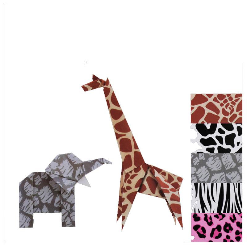 得力73400动物手工纸 创意儿童彩色手工折纸 正方形剪纸 15x15cm
