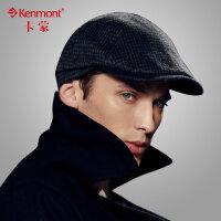 kenmont军贝雷帽复古帽子男 英伦毛呢帽男士休闲帽子鸭舌帽潮 2369