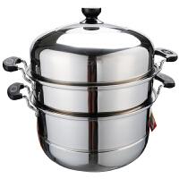 爱仕达蒸锅ASD 34CM双箅304不锈钢蒸锅 双层蒸锅锅具M1534GH 带蒸笼蒸屉