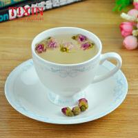 TIXIN/梯信 浮雕单品咖啡杯 骨质陶瓷花茶杯子 蓝山咖啡杯碟套装 T35435