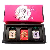 【台湾年货礼盒】甲仙农会 有机梅宴芳礼盒-(有机梅精+紫苏梅+Q梅)