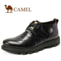 CAMEL骆驼 男皮鞋 单层皮经典时尚休闲男士短靴 秋冬新款2160005
