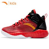 安踏儿童篮球鞋男童运动鞋2017秋新款高帮球鞋学生训练鞋
