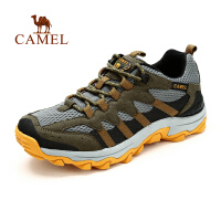 camel骆驼户外登山徒步鞋 男款  春季新款透气网布减震徒步鞋子