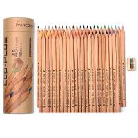 马可6100  原木桶装油性彩色铅笔 24 36 48色全 送卷笔器