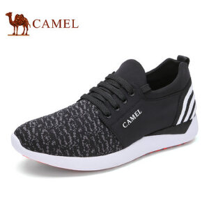 camel骆驼男鞋 新品 潮流休闲男士拼接时尚舒适运动休闲鞋