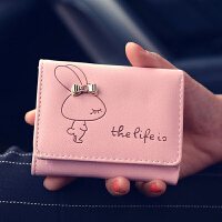 2017新款韩版女士短款可爱卡通小手拿包 小兔三折短款钱包  CY-328