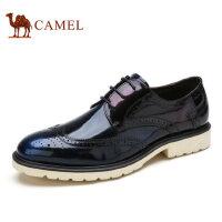 camel骆驼男鞋 秋季新品 擦色牛皮布洛克雕花英伦风皮鞋布洛克