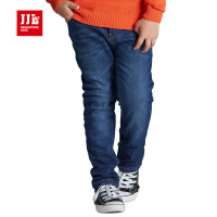jjlkids季季乐童装大男童牛仔裤冬季新款加绒加厚款儿童宽松长裤BDK61196