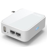 TP-LINK TL-WR720N 150M迷你型3G无线路由器USB口可给iPad充电!有线3G双接入!双太网口满足有线无线共享需求!
